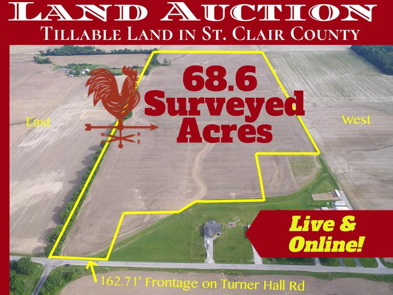 68+/- Acre Auction in St. Clair County, IL